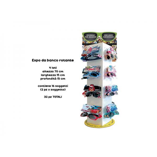 CONF.32 OCCH.SOLE BIMBO ASSORTITI CON EXPO CART.DA BANCO GIR.COMPOSTO DA: