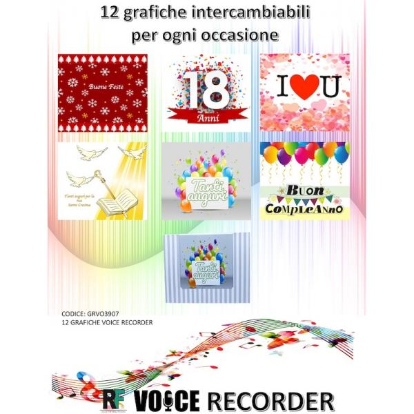 KIT 12 GRAFICHE INTERC.X VOICE RECORDER