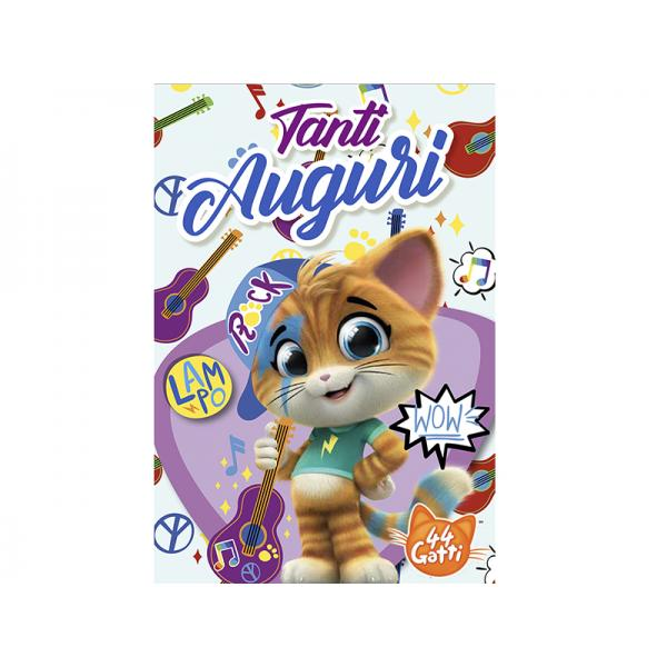 BIGL.AUGURI 44GATTI LAMPO SNAP CAT