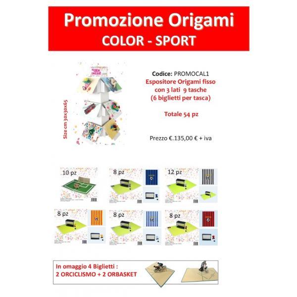 EXPO DA BANCO 54 BIGL.ORIG.COLOR CALCIO + 2 X ORCICLISMO/ORBASKET OMAGGIO COMPOSTO DA: