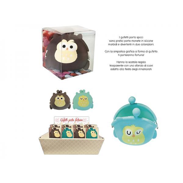 12 P.MONETE SILICONE FUFETTO 2 COL CON EXPO BANCO CART.COMPOSTO DA: