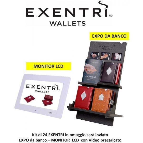 EXPO DA BANCO 24 PORTAFOGLI EXENTRI +MONITOR LCD COMPOSTO DA: